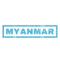 Myanmar rubber stamp vector