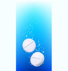 pills in water on white background for creative vector image