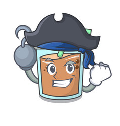 Pirate bubble tea character cartoon vector