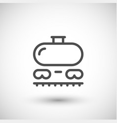 railroad tank line icon vector image