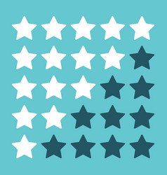 Rating stars on blue vector