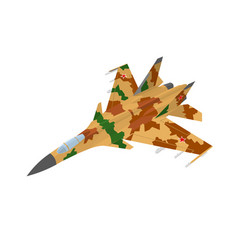 russian fighter aircraft with desert vector image