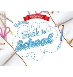 School season invitation template EPS 10 vector