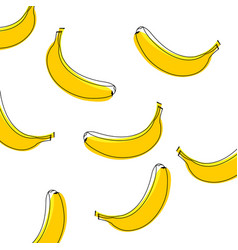 seamless pattern of bananas background with vector image