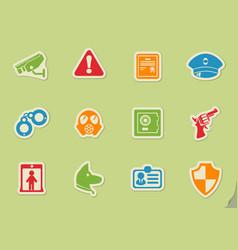 Security symbols icon set vector
