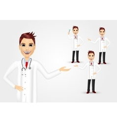 set of medical workers or doctors vector image