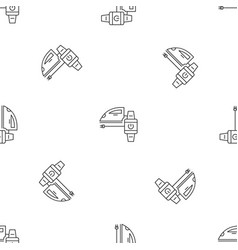 smart home iron pattern seamless vector image