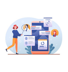 Staff recruitment or employee hiring process vector