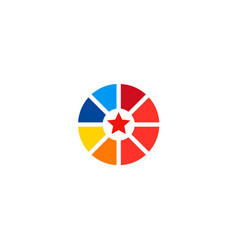 Star target company logo vector