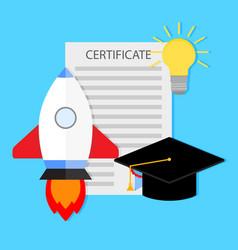 Start learning university and development vector