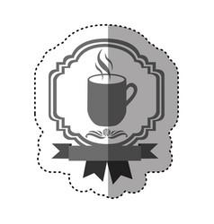 sticker gray scale border heraldic decorative vector image