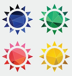 sun icon Abstract Triangle vector image