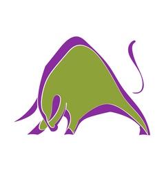 Symbol strong wild bull vector
