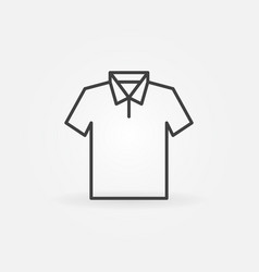 T-shirt modern icon - outline tshirt sign vector