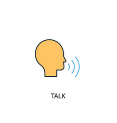 talk concept 2 colored line icon simple yellow vector image