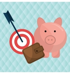 target money piggy cash vector image