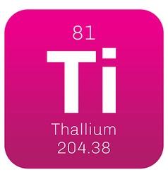 Thallium chemical element vector image