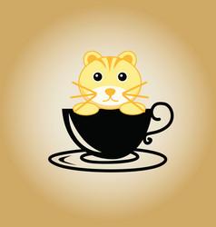Tiger logo coffee vector