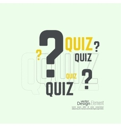 Time for questions and answers vector image