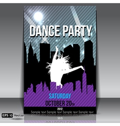 Urban dance party flyer vector image