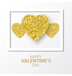 Valentines day card for vector image