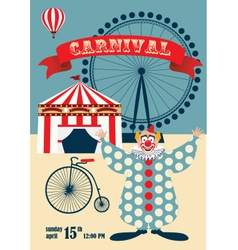 Vintage carnival or circus poste vector image