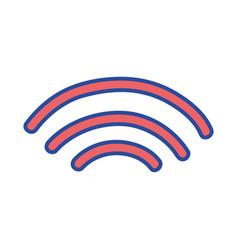 Wifi digital symbol to digital information vector