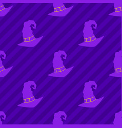 witch hat seamless pattern vector image