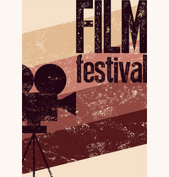 film festival retro typographical grunge poster vector image