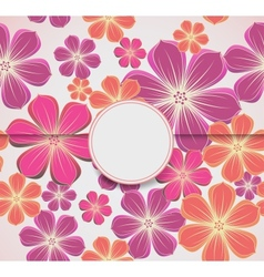 Floral greeting card invitation template vector image