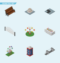 Isometric architecture set of swing attraction vector