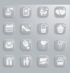 mothers day simply icons for web vector image