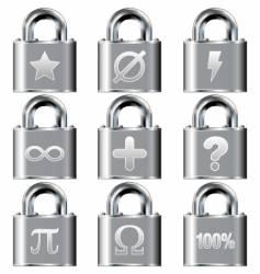 secure math symbols vector image vector image