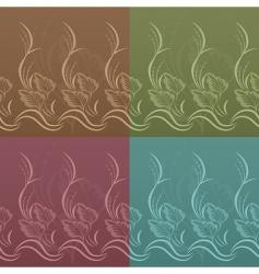 set of vector floral patterns vector image