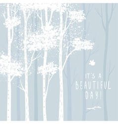 trees white vector image vector image