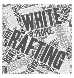 white water rafting Word Cloud Concept vector image