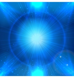 Abstarct blue space background with light star for vector image vector image
