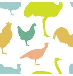 Farm bird silhouettes vector image