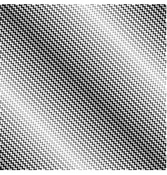 Halftone seamless pattern diagonal zig zag lines vector
