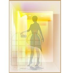 mannequin in a shop window vector image vector image