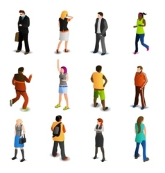 People Isometric Icons Set vector image vector image