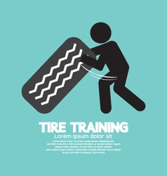 Tire Training Workout Symbol vector image vector image