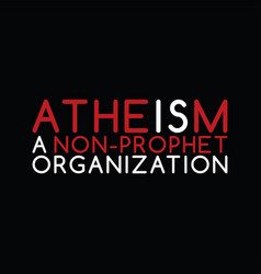 atheism theme - against religious ignorance vector image