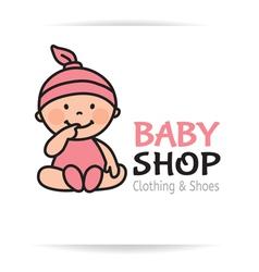 Baby shop logo vector image vector image