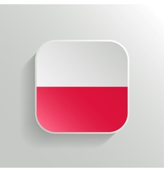 Button - Poland Flag Icon vector image vector image