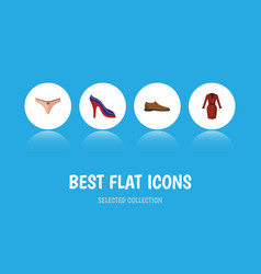 flat icon garment set of lingerie clothes heeled vector image vector image