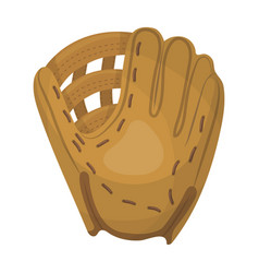 glove trap baseball single icon in cartoon style vector image vector image