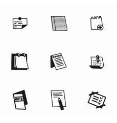 notes icon set vector image