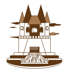 princess castle icon vector image