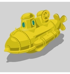 Toy yellow submarine isolated object vector image vector image